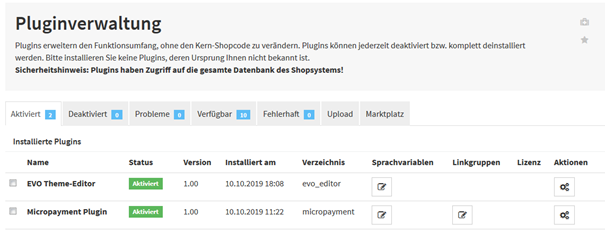 JTL SHOP <strong>Note:</strong> To install the payment module, you will need to access the shop software files.<br> Connect to your web server's file system for this, for example via FTP, and save the unzipped folder in includes → plug-ins or upload the .zip file in the shop.