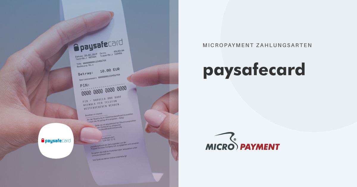 paysafecard - Prepaid Online bezahlen | Micropayment
